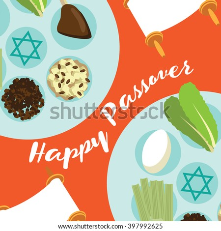 Happy passover seder meal greeting card stock illustration 397992625 happy passover seder meal greeting card poster design m4hsunfo Image collections
