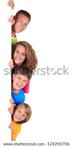 happy siblings - stock photo
