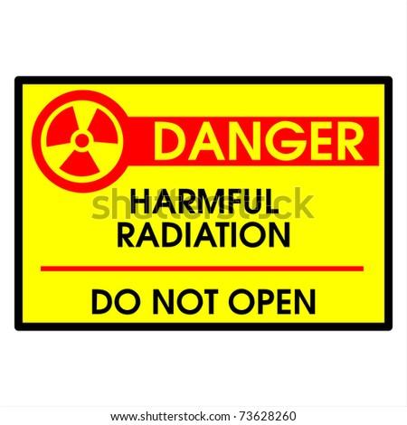 Harmful radiation do not open - stock photo