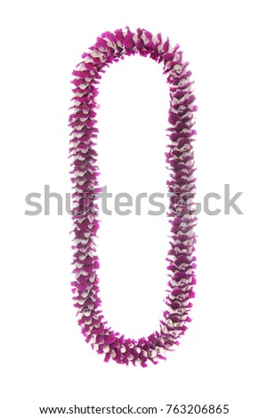 picture hawaiian background necklace stock isolated oval white on lei