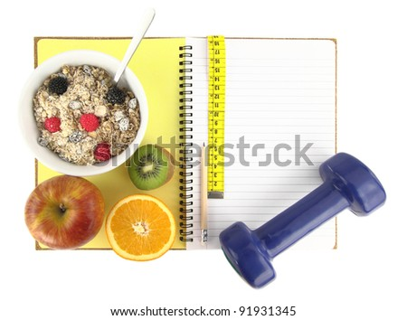"""""""Healthy eating"""" book - stock photo"""