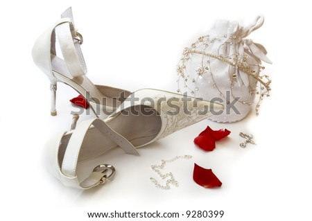 Her Wedding Day Accessories - stock photo