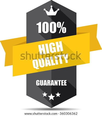 100% high quality black Label, Sticker, Tag, Sign And Icon Banner Business Concept, Design Modern With Crown. - stock photo