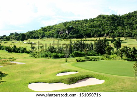 hole at Palm Desert Golf Course  - stock photo