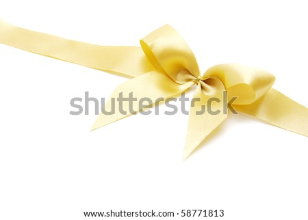 holiday bow on white background