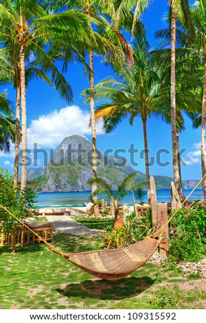 holidays in tropical paradise - stock photo