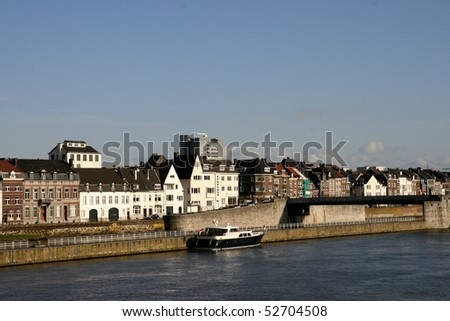 """Holland-maastricht-river-Mosa-city"" - stock photo"