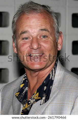 "04/17/2006 - Hollywood - Bill Murray attends the Los Angeles Premiere of ""The Lost City"" held at the Arclight Cinemas in Hollywood, California, United States.  - stock photo"