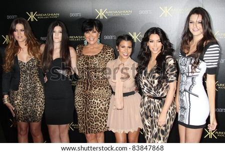 8-17-11 - Hollywood, CA - Khloe Kardashian, Kylie Jenner, Kris Jenner, Kourtney Kardashian, Kim Kardashian, Kendall Jenner. Kardashian Kollection Launch Party at The Colony. By: Russ Elliot/AdMedia