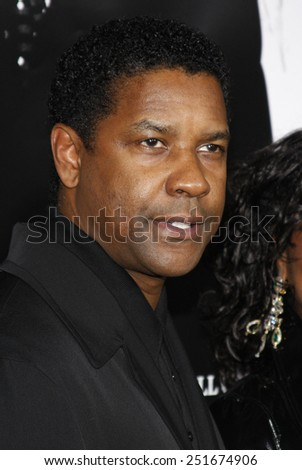 "10/29/2007 - Hollywood - Denzel Washington attends the Hollywood Industry Screening of ""American Gangster"" held at the ArcLight Theater in Hollywood, California, United States.  - stock photo"