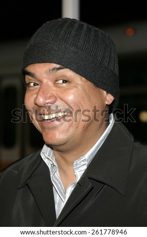 """03/23/2005 - Hollywood - George Lopez at the """"Miss Congeniality 2: Armed and Fabulous"""" Premiere at the Chinese Theatre. - stock photo"""