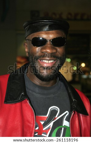 "02/14/2005 - Hollywood - Isaac Hayes at the ""Be Cool"" Premiere Red Carpet at Grauman's Chinese Theater in Hollywood.  - stock photo"