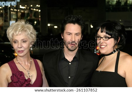 "02/16/2005 - Hollywood - Keanu Reeves at the ""Constantine"" Film Premiere at Graumans' Chinese Theatre in Hollywood. - stock photo"