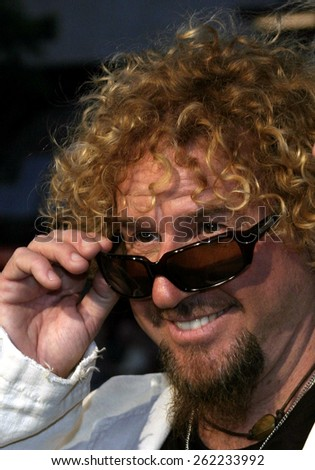 "04/04/2005 - Hollywood - Sammy Hagar at the ""Sahara"" Premiere at the Grauman's Chinese Theater. - stock photo"