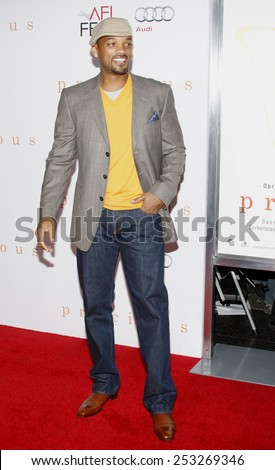 """01/11/2009 - Hollywood - Will Smith at the AFI FEST 2009 Screening of """"Precious"""" held at the Grauman's Chinese Theater in Hollywood, California, United States.  - stock photo"""