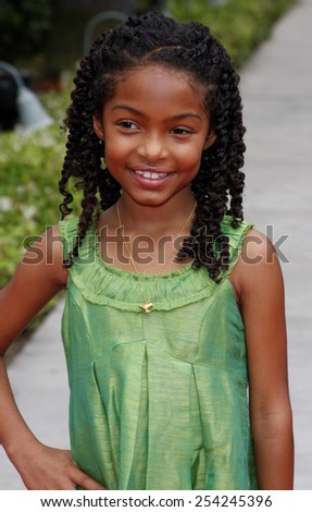 """6/6/2009 - Hollywood - Yara Shahidi at the Los Angeles Premiere of """"Imagine That"""" held at the Paramount Studios Lot in Hollywood, United States.  - stock photo"""