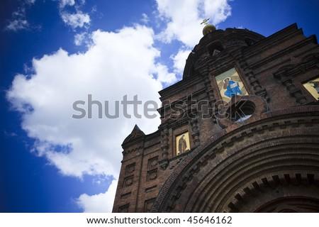 Holy Sophia cathedral  in Harbin china. - stock photo