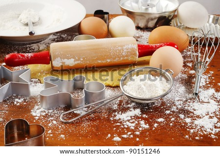 homemade baking - stock photo