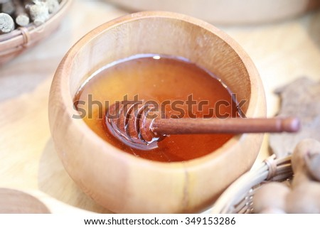 honey pot  - stock photo