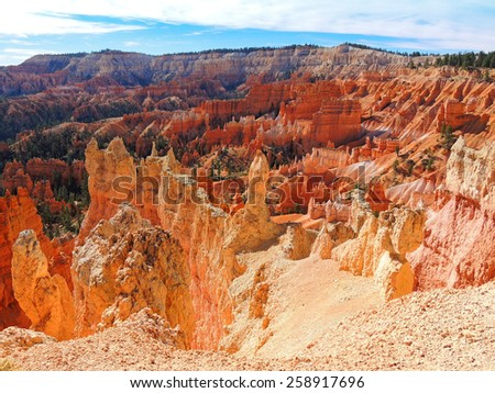 hoodoos on the queens garden hike in Bryce canyon national park, utah - stock photo
