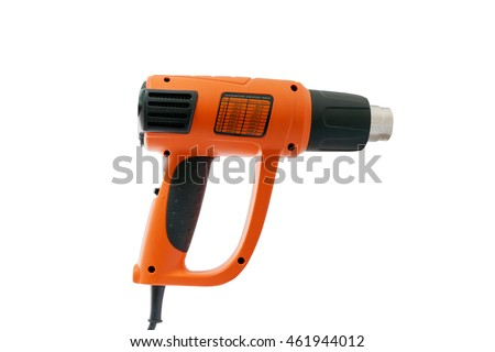 Hot air gun on  white background ,with clipping path