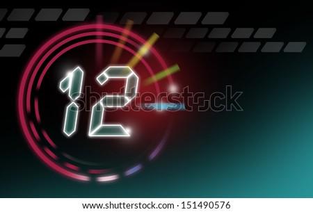 24 hour digital clock. Ticking Time concept - stock photo