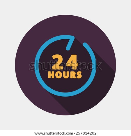 24 hours customer service icon stock vector 182343515. Black Bedroom Furniture Sets. Home Design Ideas