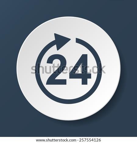 24 hours icon. - stock photo