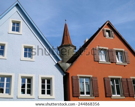 Houses and tower