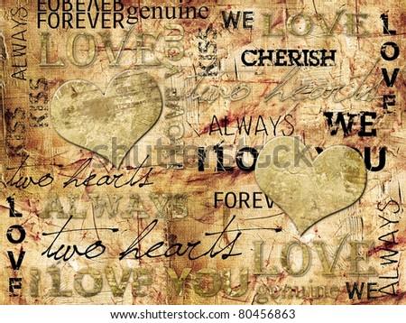 """I LOVE YOU"" Background - stock photo"