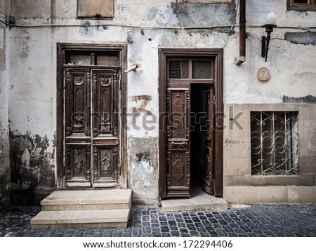 Icheri Sheher (Old Town) of Baku, Azerbaijan. - stock photo
