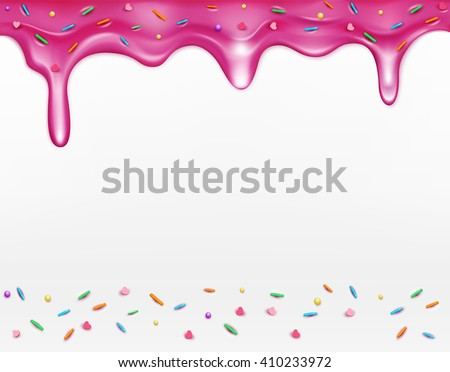 icing with sprinkles (element for design) - stock photo