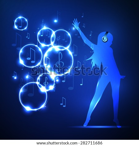 illustration abstract music background - stock photo