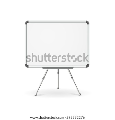 illustration. Empty whiteboard for business presentation, lecture, speech