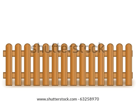 illustration of a wooden brown fence