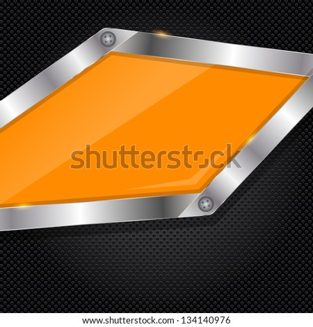 illustration of metal glass abstract background