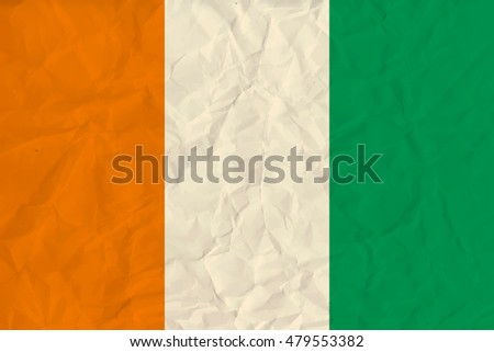 image of the Cote divoire paper  flag