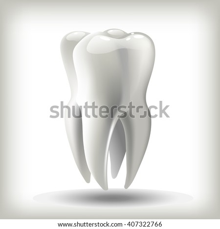 image tooth  3D illustration for dentistry - stock photo