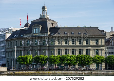 In the historical center of Lucerne.Switzerland, Europe. - stock photo