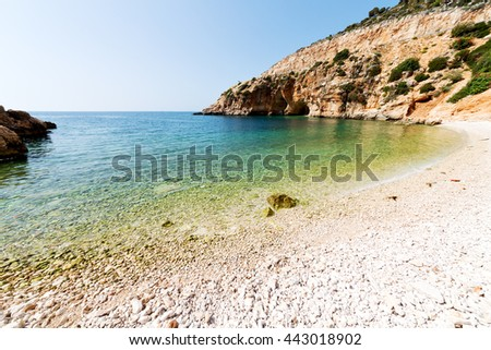 in thurkey antalya lycia way water rocks and sky near the nature