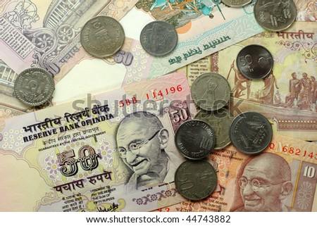 indian money - stock photo