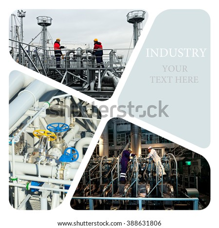 Industrial. Industrial concept.  Oil And Gas Industry - stock photo