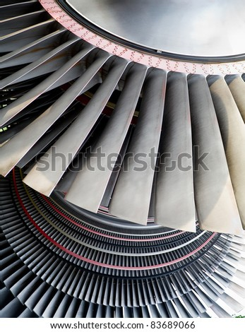 industrial texture of power station generator turbine - stock photo