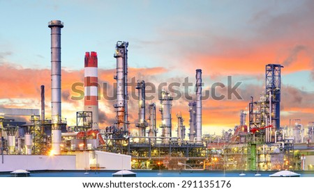 Industry, Factory, Oil Refinery - stock photo