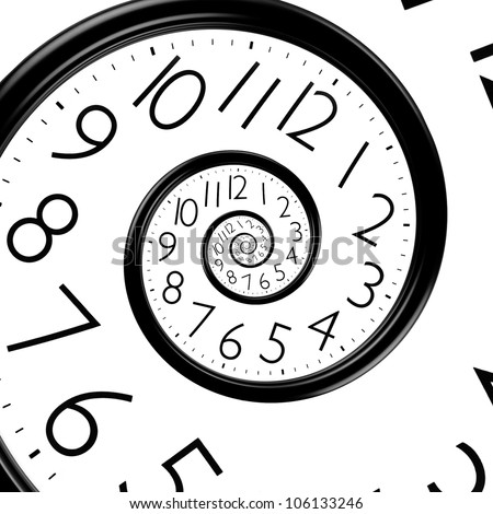 infinity time spiral clock - stock photo