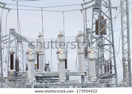 inside  power station winter - stock photo