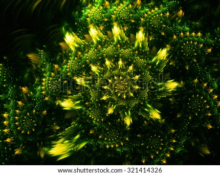 Interesting detailed abstract background.It reminds metal inlay, an interesting pattern, flash glare. - stock photo