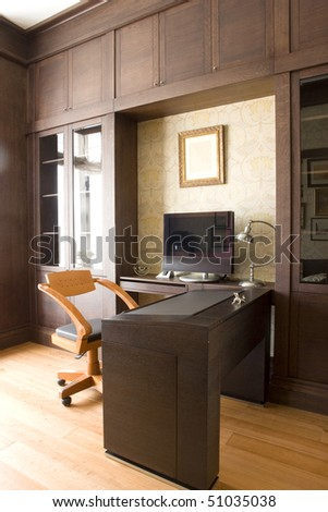 interior of office room at home - stock photo
