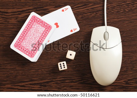 internet gambling - stock photo