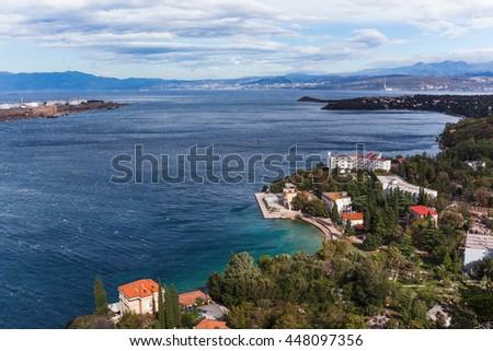 island archipelago view near Krk island, Dalmatia, Croatia - stock photo